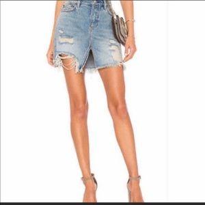 Free people NWT denim jean skirt light wash